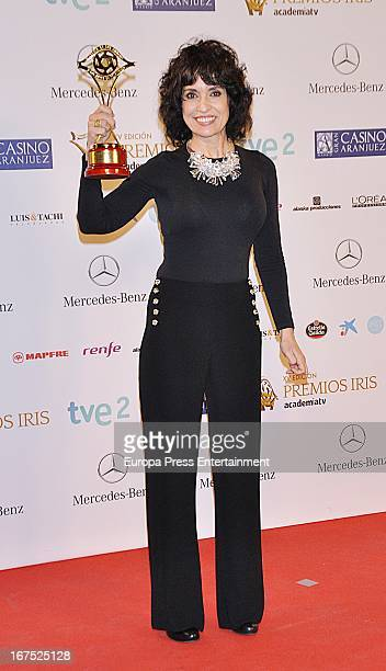 Adriana Ozores attends Iris Awards 2013 on April 25 2013 in Madrid Spain