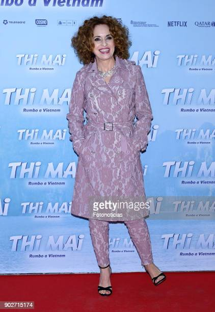 Adriana Ozores attends the 'Thi Mai Rumbo a Viet Nam' premiere at Callao cinema on January 8 2018 in Madrid Spain