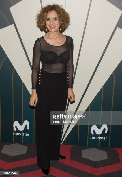 Adriana Ozores poses during a photocall for the premiere of 'Velvet' at the Sala Phenomena on September 20 2017 in Barcelona Spain