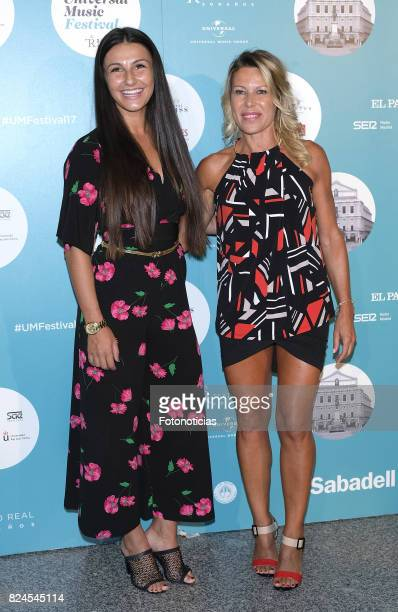 Adriana Pozueco and guest attend the Luis Fonsi Universal Music Festival concert at The Royal Theater on July 30 2017 in Madrid Spain