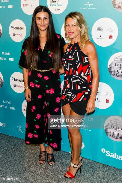 Adriana Pozueco attends Luis Fonsi concert at the Royal Theatre on July 30 2017 in Madrid Spain