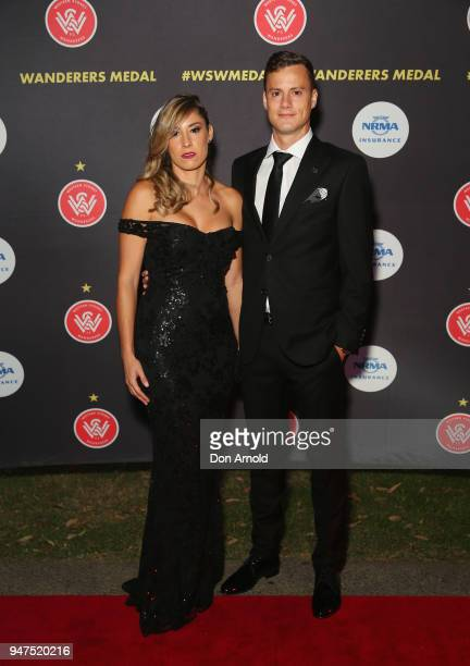 Adriana Riera and Oriol Riera attendthe Wanderers Medal 2018 on April 17 2018 in Sydney Australia