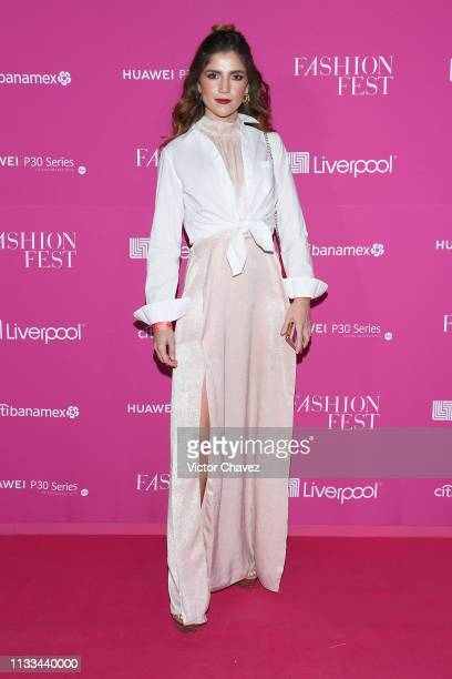 Adriana Ruiz attends the Liverpool Fashion Fest Spring/Summer 2019 at Quarry Studios on March 28 2019 in Mexico City Mexico