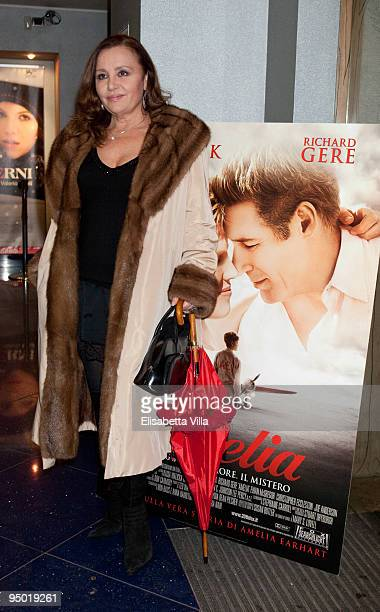 Adriana Russo attends 'Amelia' Premiere hosted by Belstaff at Metropolitan Cinema on December 22 2009 in Rome Italy