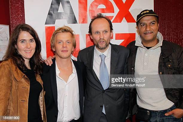 Adriana Santini Legitimus humorist Alex Lutz producer JeanMarc Dumontet and humorist Pascal Legitimus at Theatre du Grand PointVirgule on October 22...
