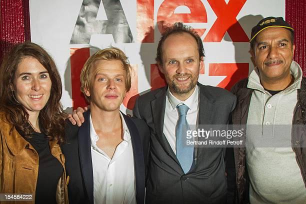 Adriana Santini Legitimus, humorist Alex Lutz, producer Jean-Marc Dumontet and humorist Pascal Legitimus at Theatre du Grand Point-Virgule on October...