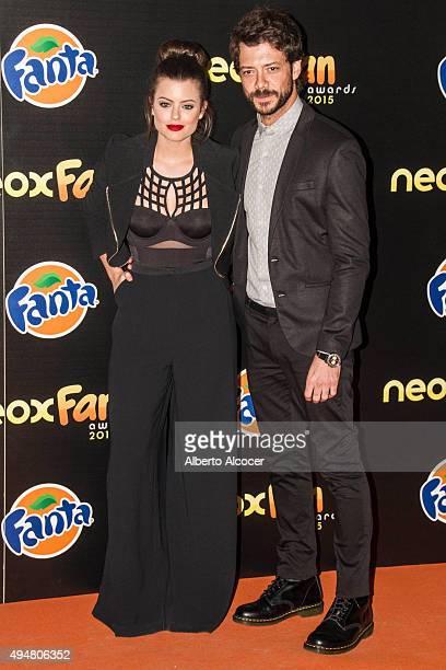 Adriana Torrebejano and Alvaro Morte attend NEOX Fan Awards 2015 photocall on October 28 2015 in Madrid Spain