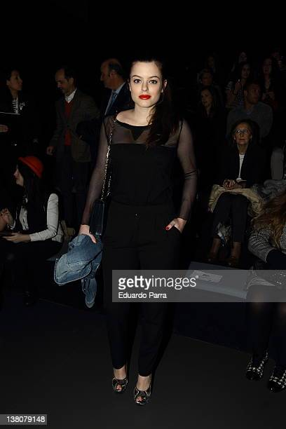Adriana Torrebejano attends Andres Sarda show during MercedesBenz Fashion Week Madrid A/W 2012 at Ifema on February 2 2012 in Madrid Spain