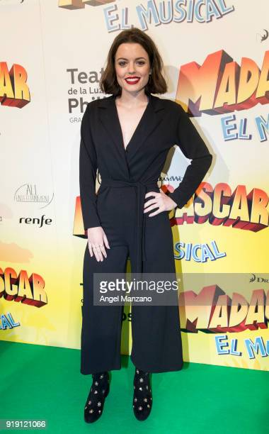 Adriana Torrebejano attends 'Madagascar The Musical' Premiere in Madrid on February 16 2018 in Madrid Spain