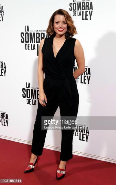 Adriana Torrebejano attends the 'La sombra de la ley' premiere at Capitol Cinema on October 10 2018 in Madrid Spain