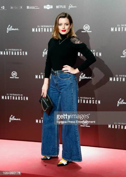 Adriana Torrebejano attends the Premiere 'El Fotografo de Mathausen' at the Capitol cinema on October 25 2018 in Madrid Spain