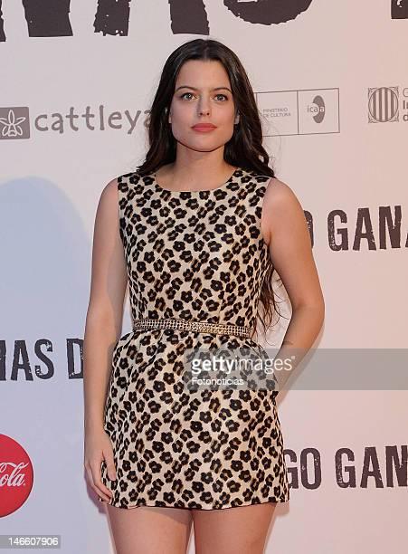 Adriana Torrebejano attends the premiere of 'Tengo Ganas de Ti' at Callao Cinema on June 20 2012 in Madrid Spain