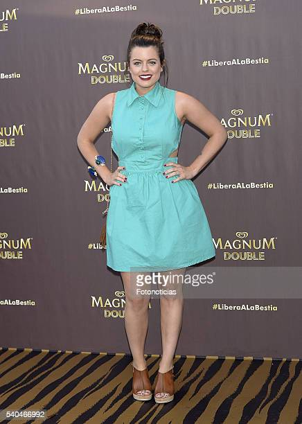 Adriana Torrebejano attends the presentation of Magnum summer campaign at the ME Hotel on June 15 2016 in Madrid Spain