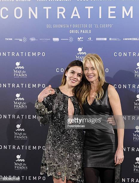 Adriana Ugarte and Belen Rueda attend the 'Contratiempo' premiere party photocall at the Reina Sofia Museum on January 4 2017 in Madrid Spain