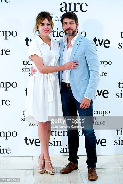 Adriana Ugarte and Felix Gomez attend 'Tiempo Sin Aire' photocall at Princesa Cinema on April 27 2015 in Madrid Spain