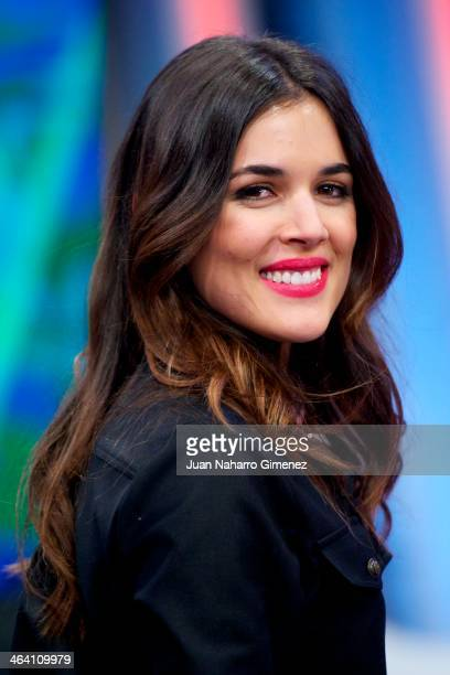 Adriana Ugarte attends 'El Hormiguero' Tv show at Vertice Studio on January 20 2014 in Madrid Spain