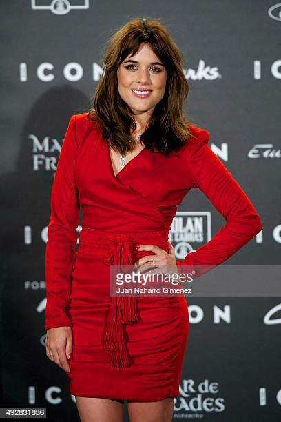 Adriana Ugarte attends fashion 'ICON Awards Men of the Year' at Casa Velazquez on October 15 2015 in Madrid Spain
