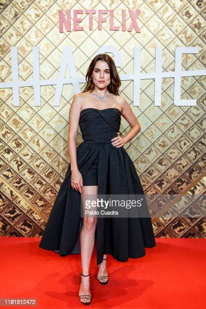 Adriana Ugarte attends 'Hache' premiere by Netflix at Paz Cinema on October 16 2019 in Madrid Spain