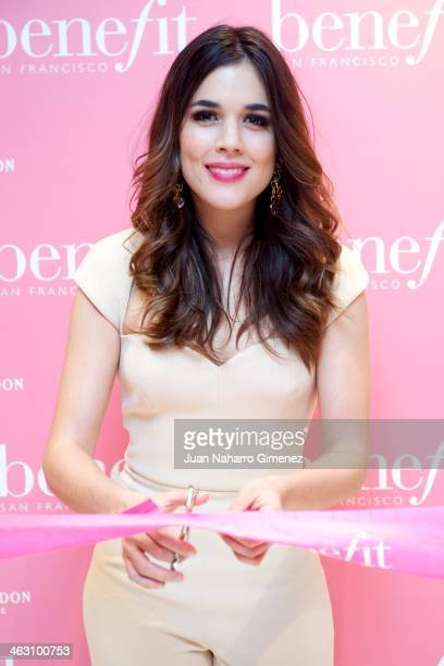 Adriana Ugarte attends the inaguration of new 'Benefit' cosmetic flagship store on January 16 2014 in Madrid Spain