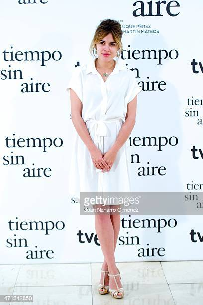 Adriana Ugarte attends 'Tiempo Sin Aire' photocall at Princesa Cinema on April 27 2015 in Madrid Spain