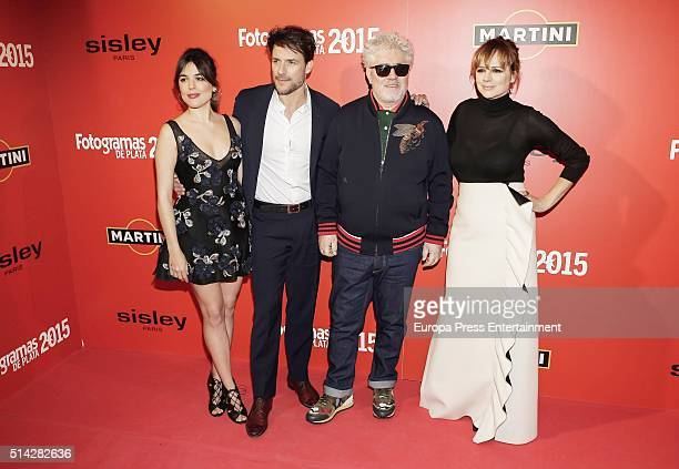 Adriana Ugarte Daniel Grao Pedro Almodovar and Emma Suarez attend Fotogramas Awards on March 7 2016 in Madrid Spain