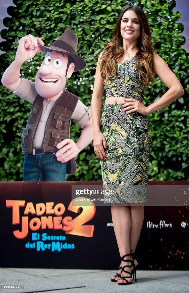 Adriana Ugarte during 'Tadeo Jones 2. El Secreto Del Rey Midas' Madrid Photocall on August 22, 2017 in Madrid, Spain.