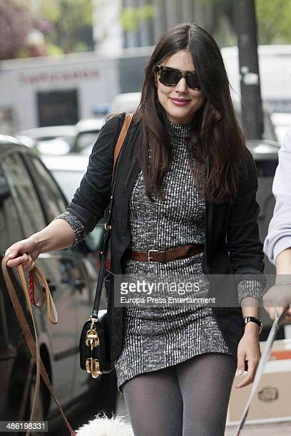 Adriana Ugarte is seen on April 22 2014 in Madrid Spain