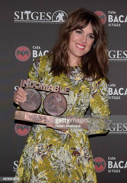 Adriana Ugarte poses during a photocall for the 'Bacardi Sitges Award' at the Casa Barcardi on October 14 2015 in Sitges Spain