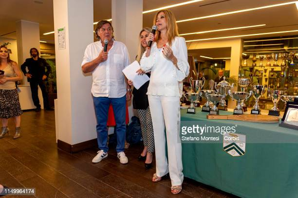 Adriana Volpe and Adriano Panattaattends at the awards ceremony for the in the first edition of the Wellness cup at the Tennis Club Parioli on June...