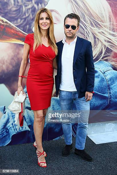 Adriana Volpe and Roberto Parli attend the CocaCola anniversary party at Foro Italico on May 08 2016 in Rome