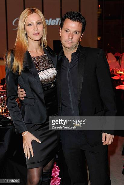 Adriana Volpe and Roberto Parli attend the Gala Telethon during the 5th International Rome Film Festivalat Palazzo delle Esposizioni on October 29...