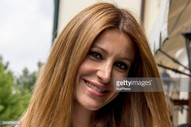 Adriana Volpe attend the 16th Italian Festival Show, in Treviso, Italy, on 16 June 2016. The traveling show of the summer 2016 Radio Birikina and...