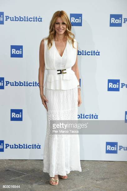 Adriana Volpe attends Rai show schedule presentation at Statale University of Milan on June 28, 2017 in Milan, Italy.