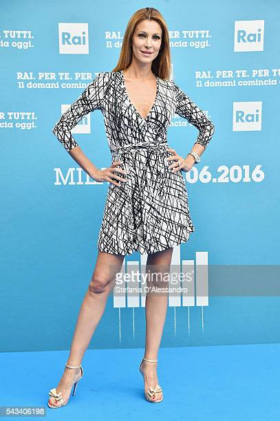 Adriana Volpe attends Rai Show Schedule Presentation In Milan on June 28 2016 in Milan Italy