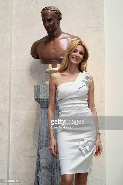 """Adriana Volpe attends the """"2010 Premio Margutta - La Via delle Arti"""" at Musei Capitolini on May 26, 2010 in Rome, Italy."""