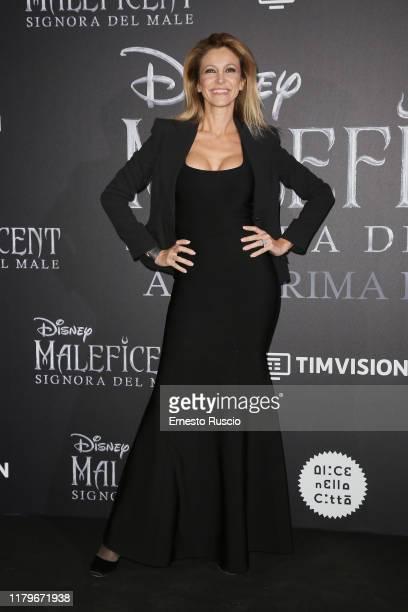 Adriana Volpe attends the european premiere of the movie Maleficent – Mistress Of Evil at Auditorium della Conciliazione on October 07 2019 in Rome...