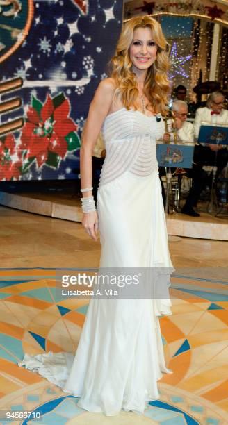 Adriana Volpe attends the Italian TV program '2009 Horoscope' by Paolo Fox at RAI studios on December 16, 2009 in Rome, Italy.