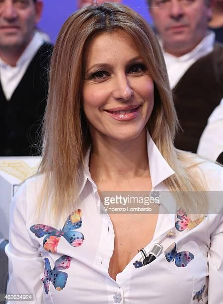 Adriana Volpe attends the 'Quelli Che Il Calcio' TV Show on February 1 2015 in Milan Italy