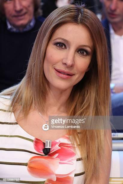 Adriana Volpe attends the 'Quelli Che Il Calcio' Tv Show on March 1, 2015 in Milan, Italy.