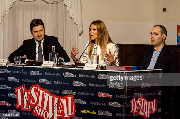 Adriana Volpe during press conference of the 16th Italian Festival Show, in Treviso, Italy, on 16 June 2016. The traveling show of the summer 2016...
