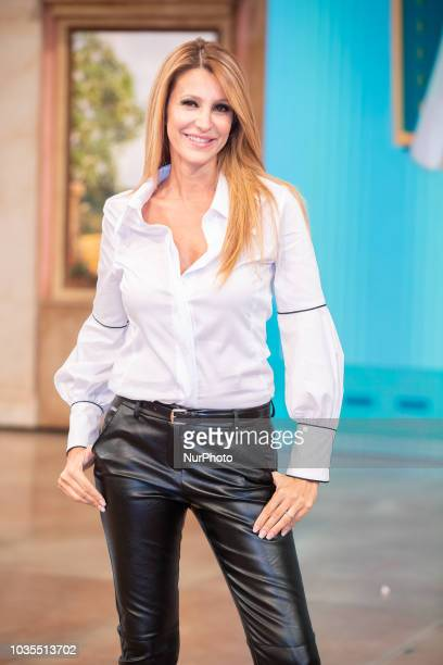 Adriana Volpe the conductor of quotMezzogiorno in famigliaquot in Rome Italy on September 18 2018