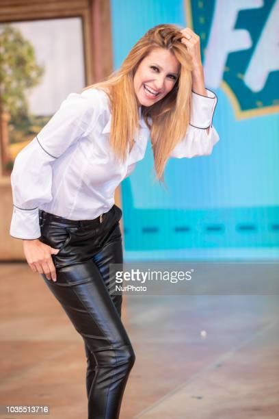 "Adriana Volpe the conductor of ""Mezzogiorno in famiglia"" in Rome, Italy, on September 18, 2018."