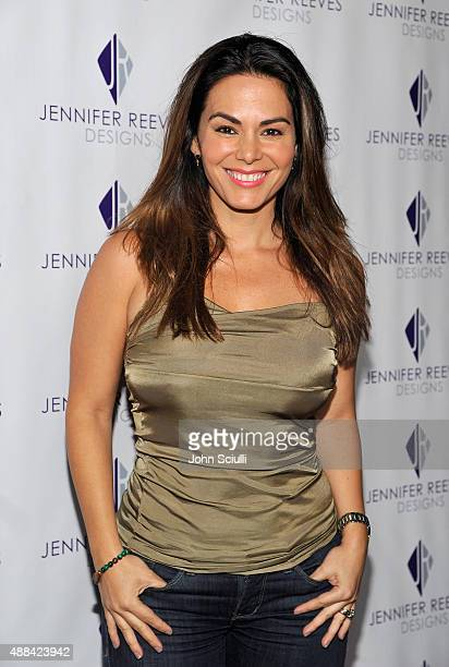 Adriana Yanez attends the Jennifer Reeves Designs PreEmmy Awards Party at The Golden Box on September 15 2015 in Hollywood California