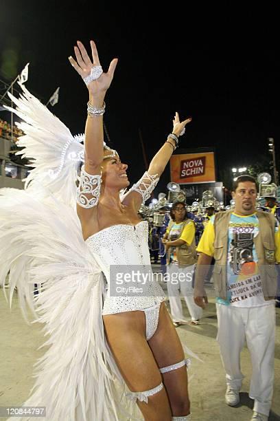 Adriane Galisteu during Rio Carnivals Samba Parades February 18 2007 in Rio De Janeiro Brazil