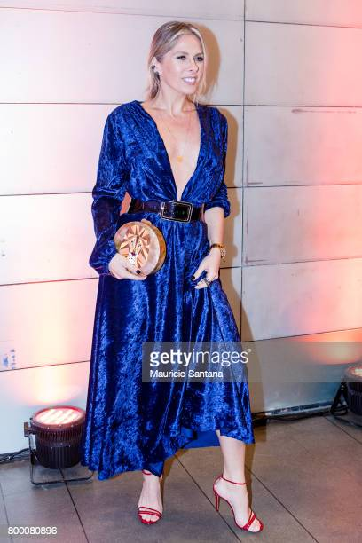 Adriane Galisteu poses before a benefit auction at Hotel Unique on June 22 2017 in Sao Paulo Brazil