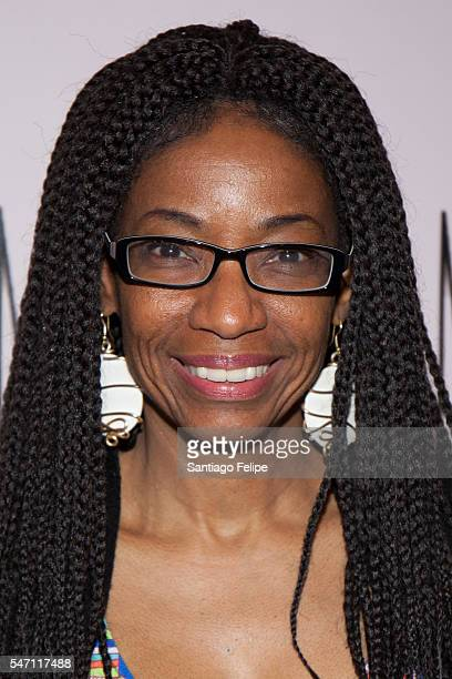 Adriane Lenox attends 'Small Mouth Sounds' opening night at The Pershing Square Signature Center on July 13 2016 in New York City