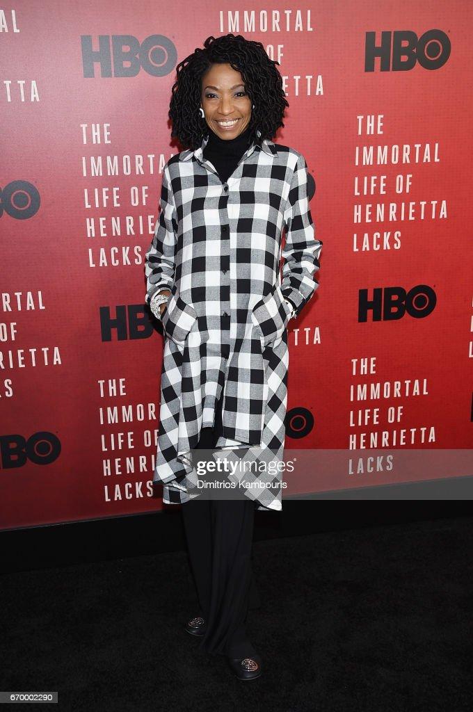 Adriane Lenox attends 'The Immortal Life of Henrietta Lacks' premiere at SVA Theater on April 18, 2017 in New York City.