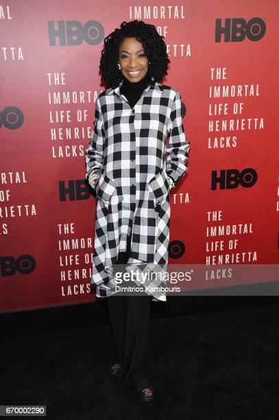 Adriane Lenox attends The Immortal Life of Henrietta Lacks premiere at SVA Theater on April 18 2017 in New York City