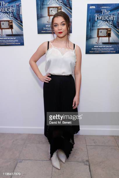 Adrianna Bertola attends the press night after party for 'The Twilight Zone' at The h Club on March 12 2019 in London England