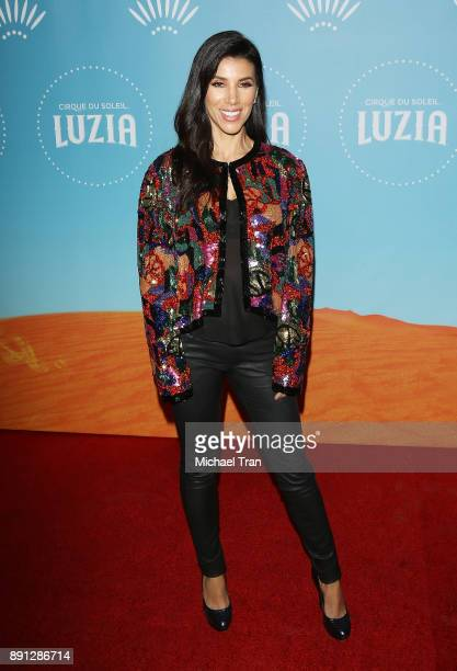 Adrianna Costa arrives to the Cirque du Soleil presents The Los Angeles premiere event of 'Luzia' held at Dodger Stadium on December 12 2017 in Los...